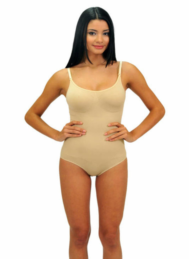 Form Active Slip Kesim Çıtçıtlı Body Korse Ten